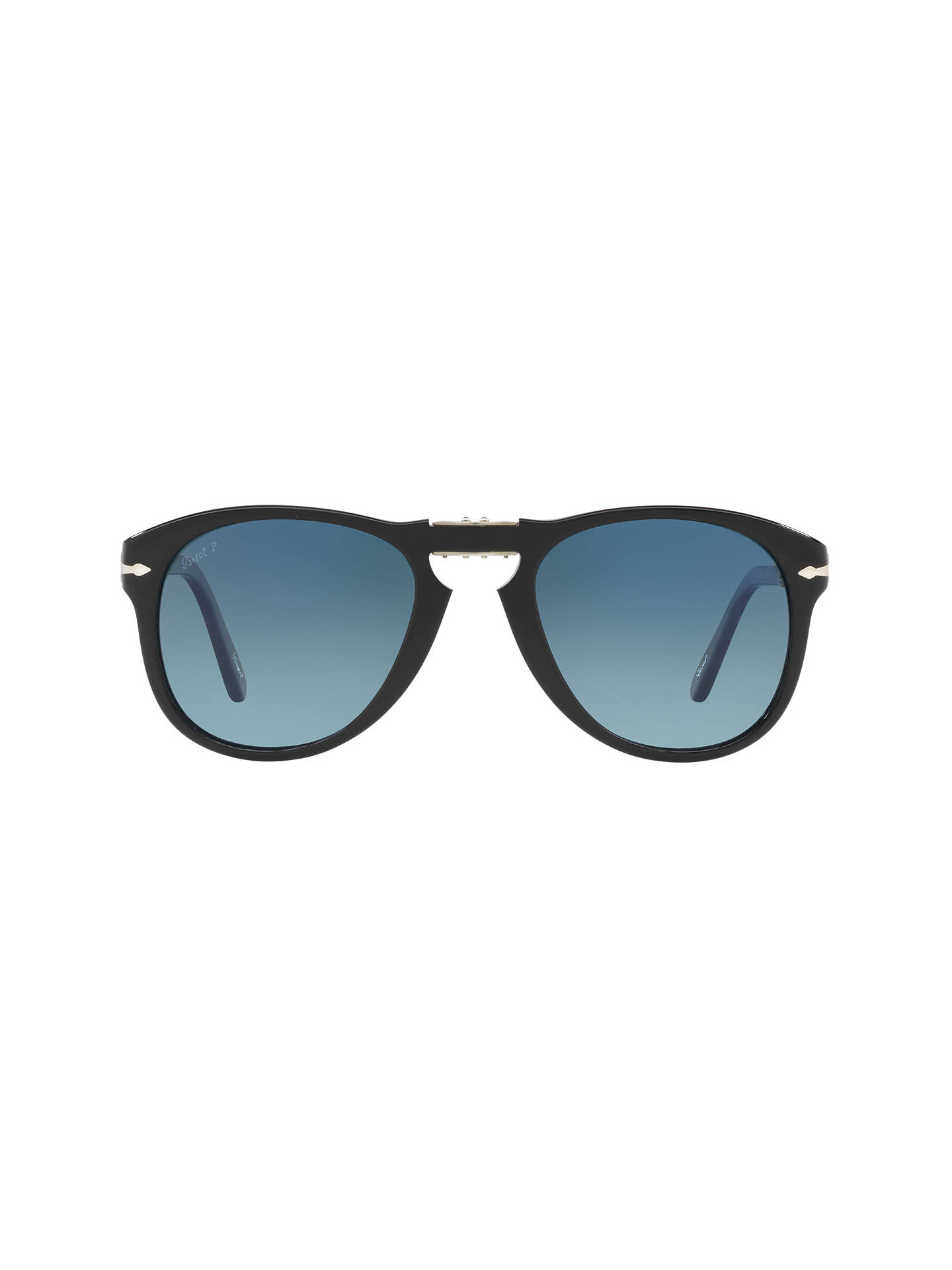 6c1988b5ce48 ... Buy Persol PO0714SM Steve McQueen Folding Polarised Aviator Sunglasses,  Black/Blue Gradient Online at ...