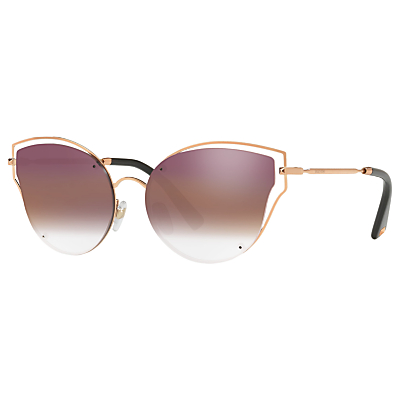 Valentino VA2015 Cat's Eye Sunglasses, Rose Gold/Pink Gradient