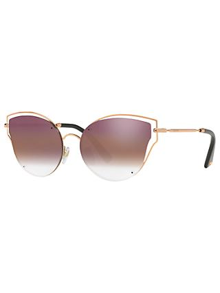 Valentino VA2015 Cat's Eye Sunglasses, Rose Gold/Pink Gradient