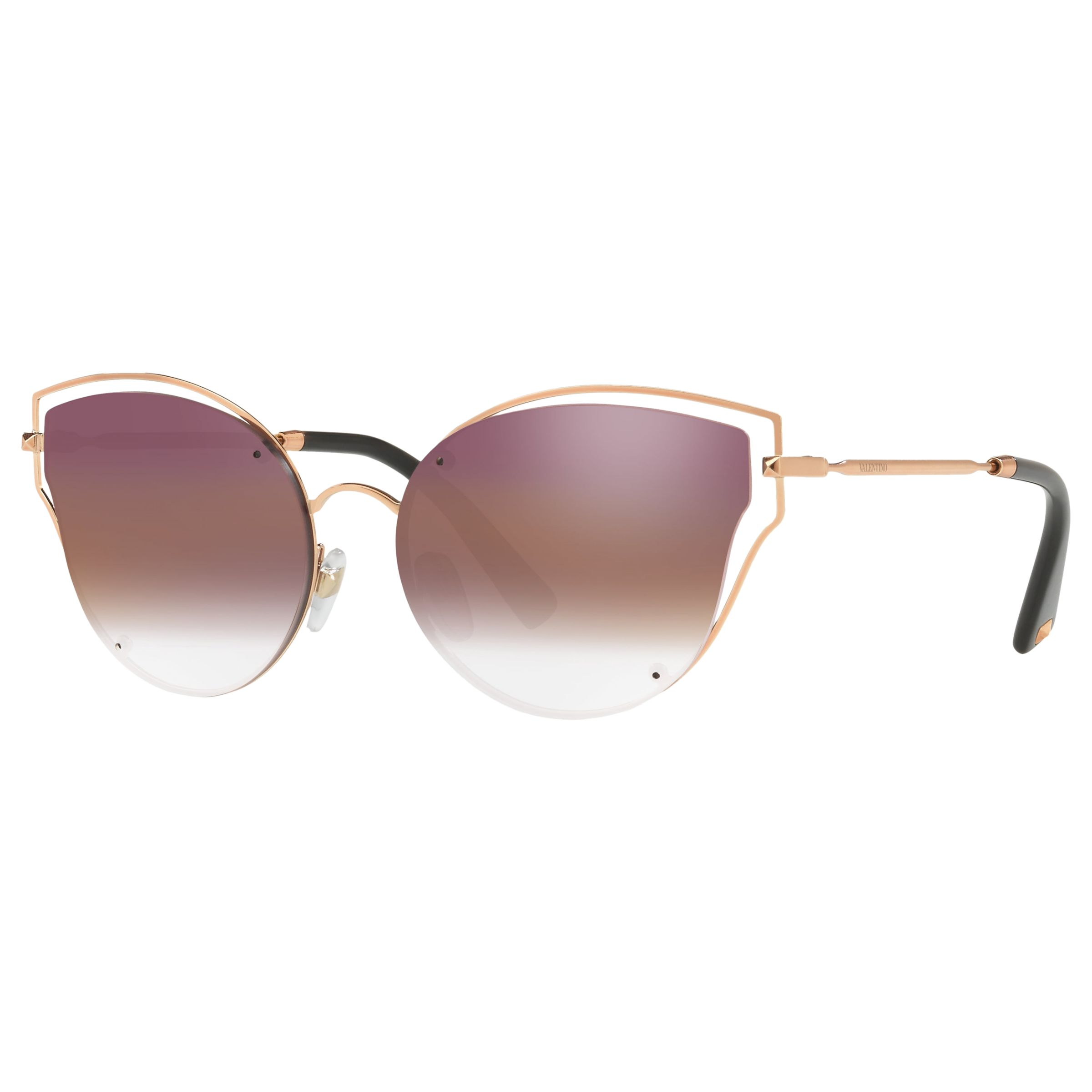 Valentino Valentino VA2015 Cat's Eye Sunglasses, Rose Gold/Pink Gradient