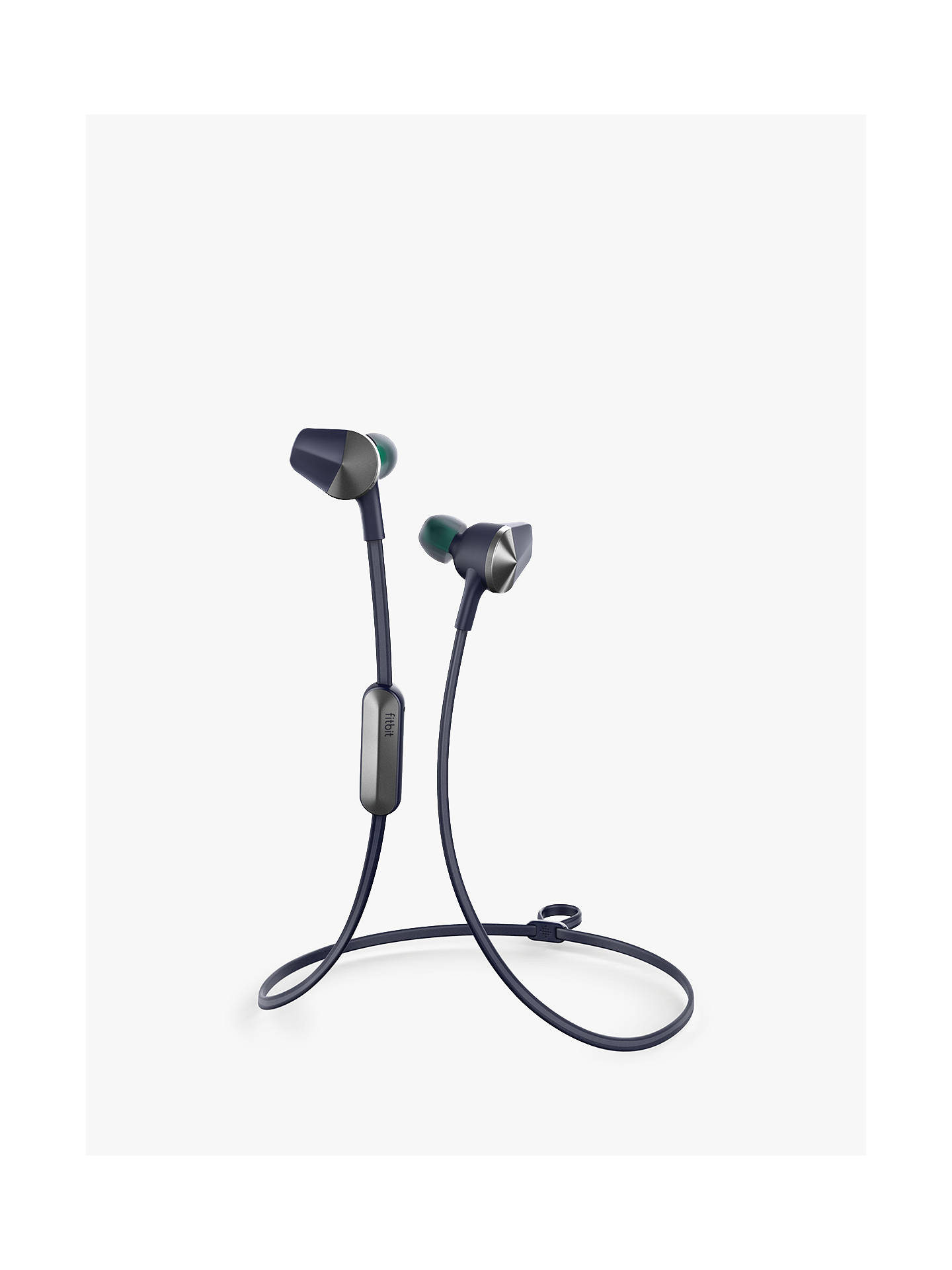 BuyFitbit Flyer Wireless In-Ear Fitness Headphones with 3-Button Control Box, Nightfall Blue Online at johnlewis.com