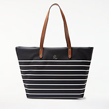 Buy Lauren Ralph Lauren Bainbridge Tote Bag, Black/White Online at johnlewis.com