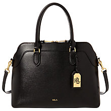 Buy Lauren Ralph Lauren Saffiano Newbury Satchel, Black Online at johnlewis.com