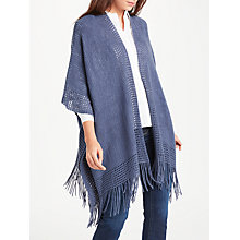 Buy Max Studio Fringe Detail Shawl, Blue Online at johnlewis.com