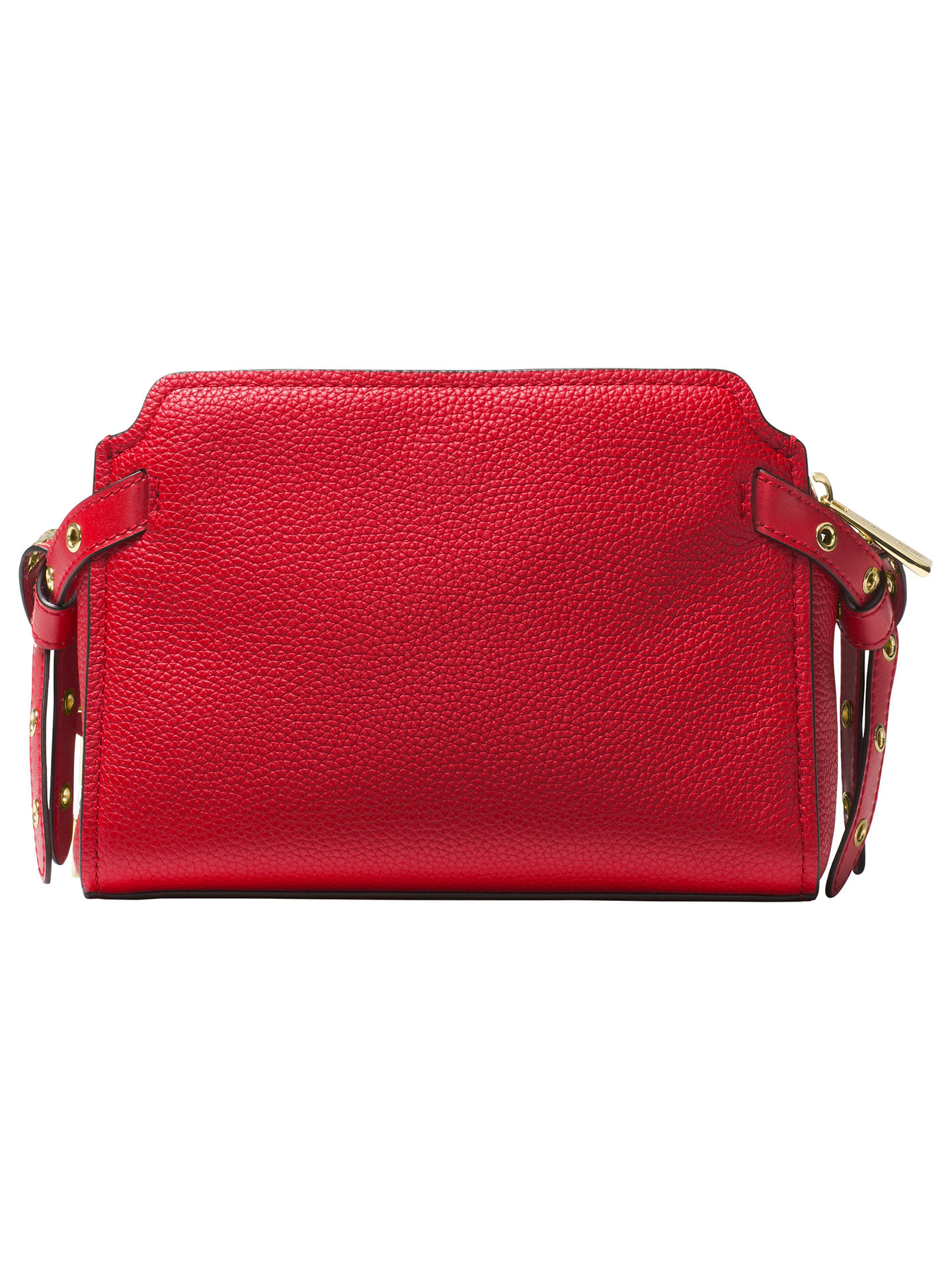 Michael Kors Bristol Leather Shoulder Bag Bright Red Online At Johnlewis