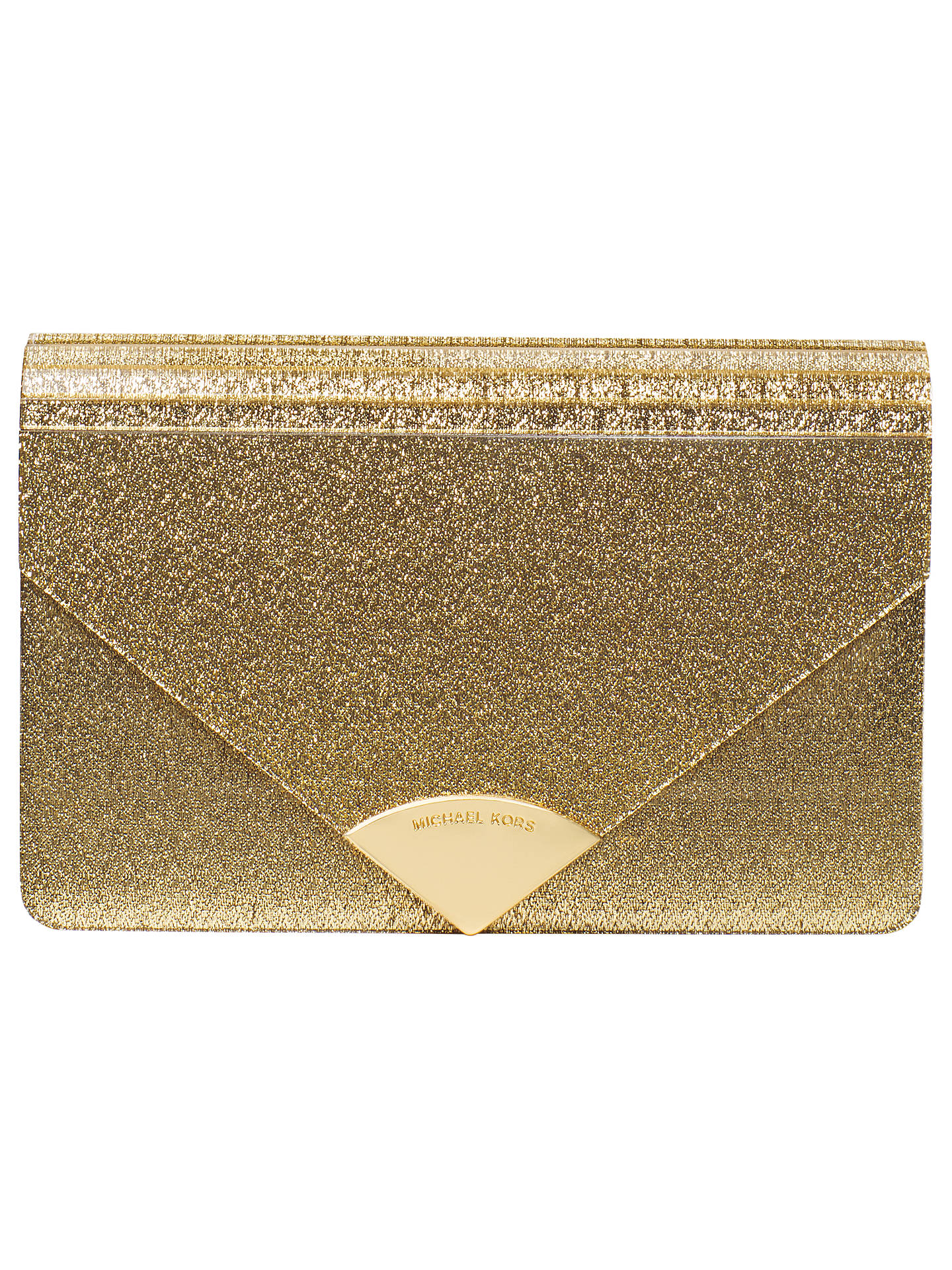 60ea9edd4c9 Buy MICHAEL Michael Kors Barbara Envelope Clutch Bag, Gold Online at  johnlewis.com ...