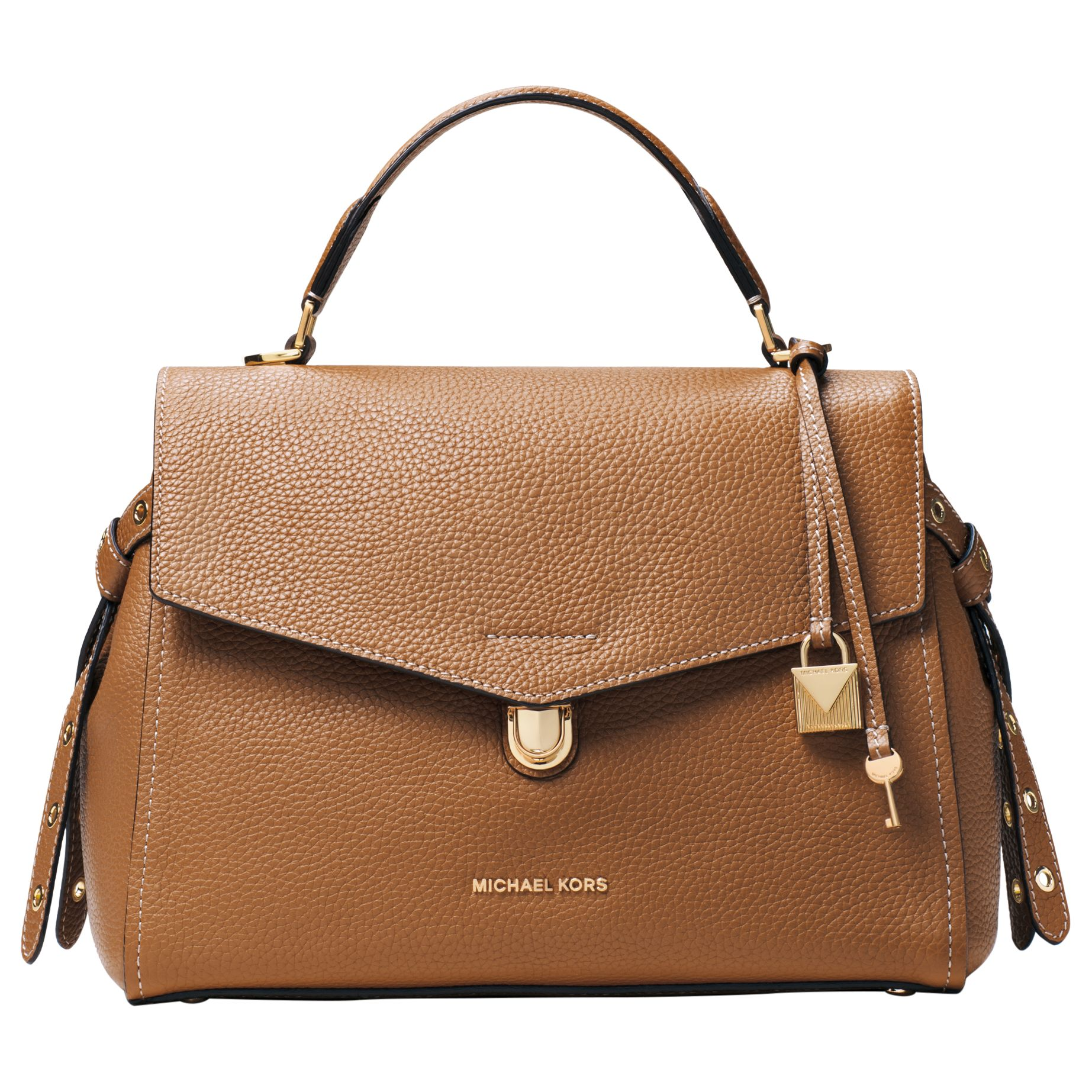 faad65771a3c8 MICHAEL Michael Kors Bristol Medium Leather Satchel Bag at John Lewis    Partners