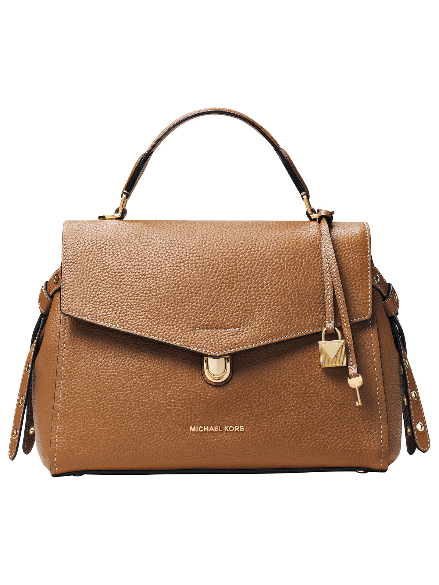 5f5ee92d254e Buy MICHAEL Michael Kors Bristol Medium Leather Satchel Bag, Acorn Online  at johnlewis.com ...