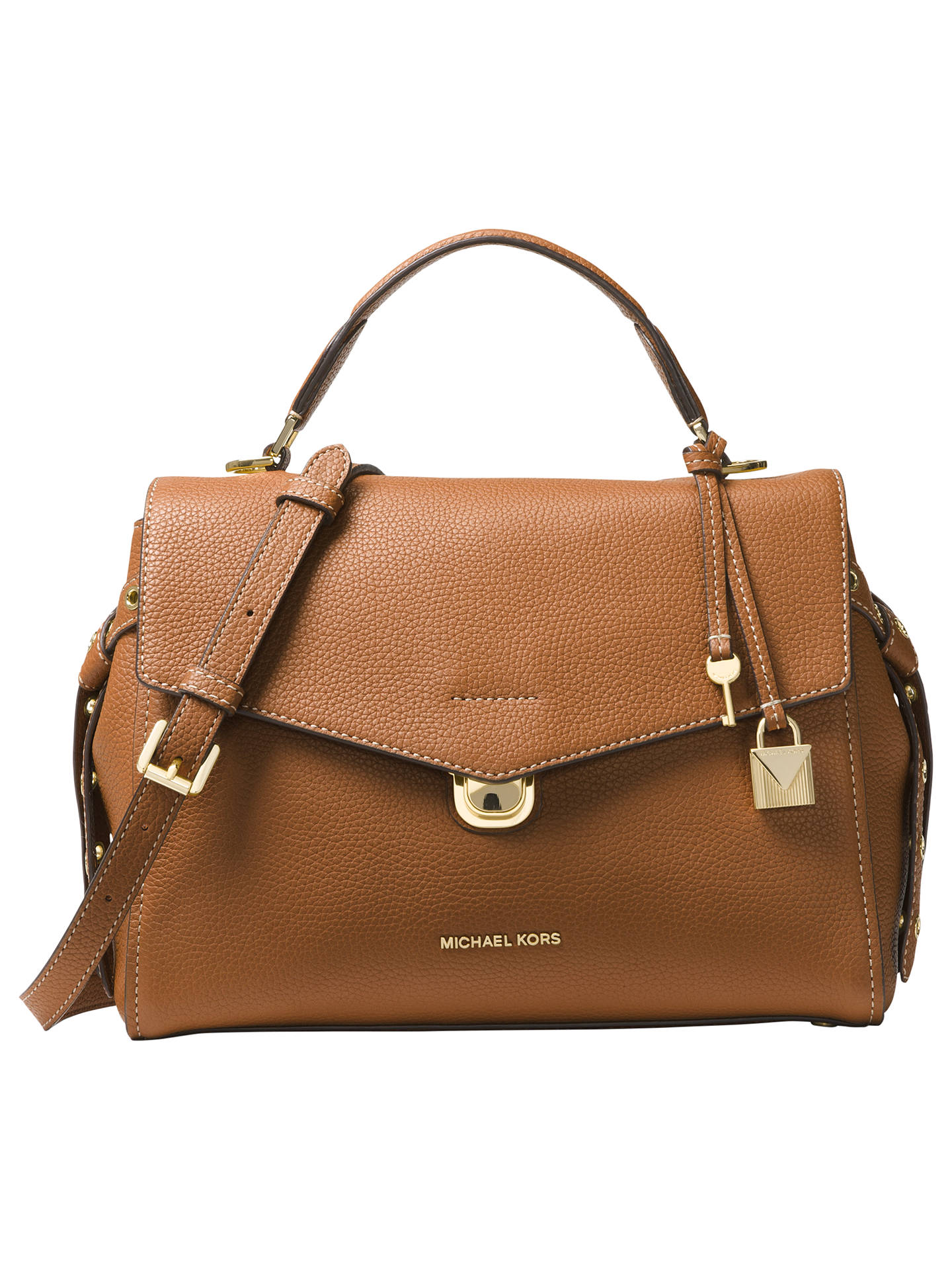 64977fbbcc50fe ... Buy MICHAEL Michael Kors Bristol Medium Leather Satchel Bag, Acorn  Online at johnlewis.com ...