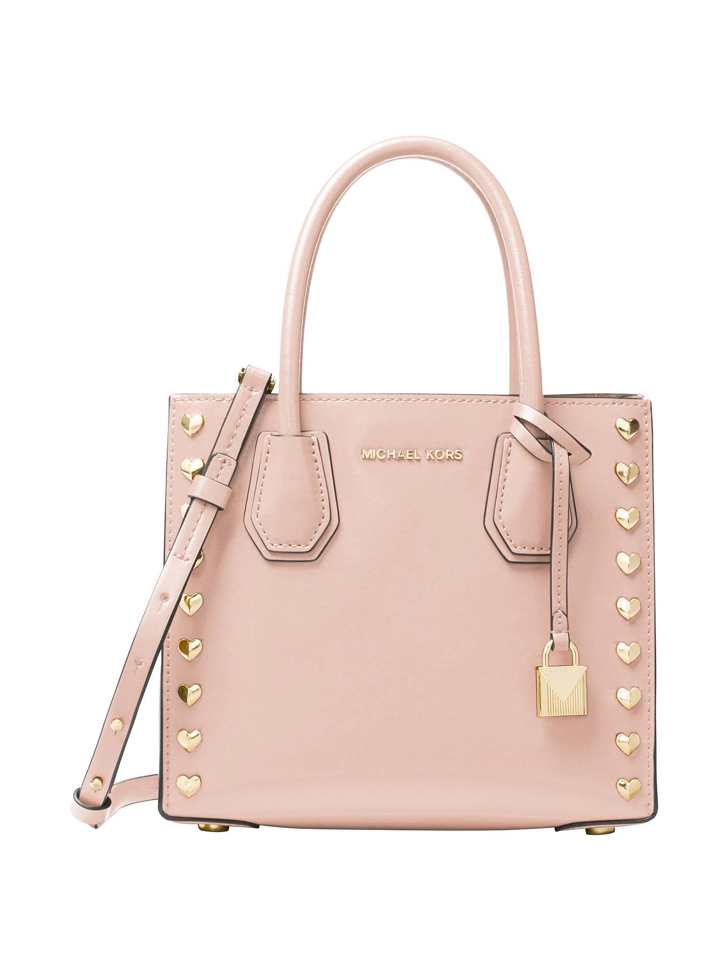 b2c1fe263185 Buy MICHAEL Michael Kors Mercer Leather Heart Stud Messenger Bag