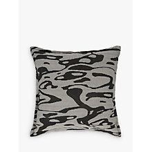Buy PATTERNITY + John Lewis Flow Cushion, Black Online at johnlewis.com
