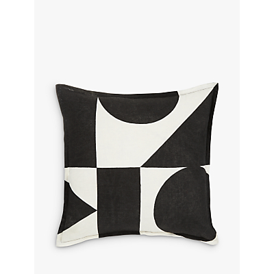 PATTERNITY + John Lewis Ritual-Repeat Cushion, Black / White