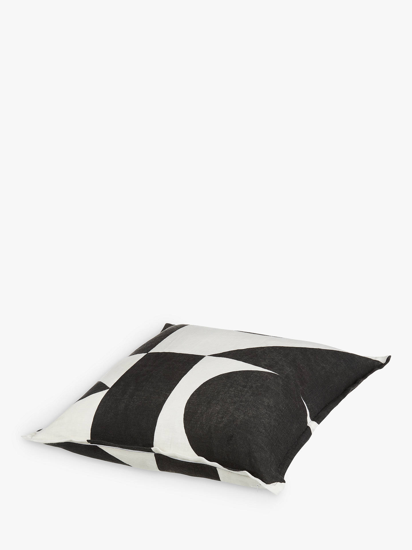 Buy PATTERNITY + John Lewis Ritual-Repeat Cushion, Black / White Online at johnlewis.com