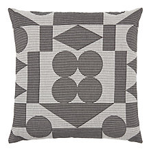 Buy PATTERNITY + John Lewis Reflect Ribbed Cushion, Black / White Online at johnlewis.com