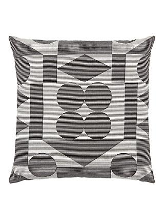 PATTERNITY + John Lewis Reflect Ribbed Cushion, Black / White