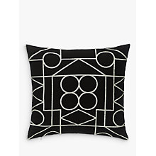 Buy PATTERNITY + John Lewis Ritual-Repeat Outline Cushion, Black / White Online at johnlewis.com