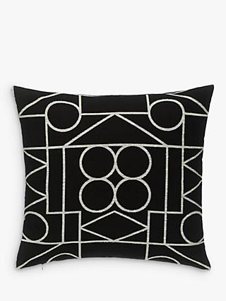 PATTERNITY + John Lewis Ritual-Repeat Outline Cushion, Black / White