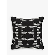 Buy PATTERNITY + John Lewis Reflect Cushion, Black Online at johnlewis.com