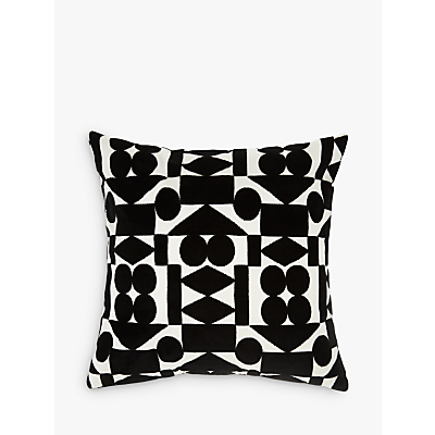PATTERNITY + John Lewis Reflect Velvet Cushion, Black
