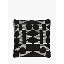 Buy PATTERNITY + John Lewis Reflect Floor Cushion, Black Online at johnlewis.com
