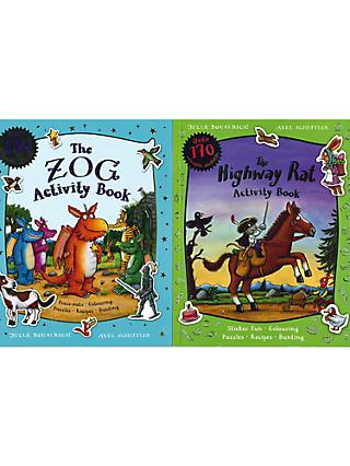 The Zog And The Highway Rat Activity Children's Book, Pack of 2