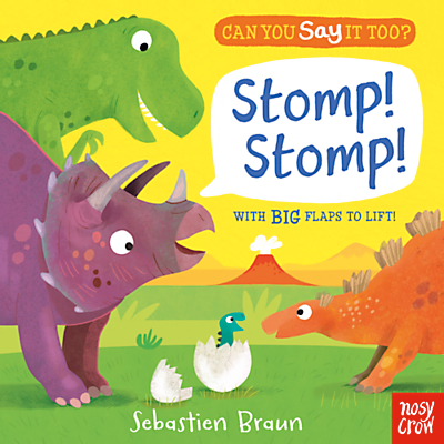 Can You Say It Too? Stomp! Lift The Flap Children's Book by Sebastien Braun