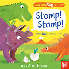 Buy Can You Say It Too? Stomp! Lift The Flap Children's Book by Sebastien Braun Online at johnlewis.com