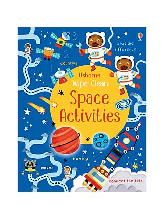 Wipe Clean Space Activities Children's Book