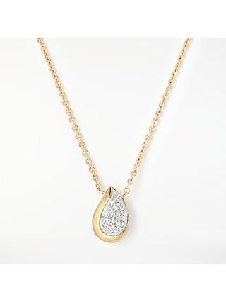 Modern Rarity Diamond Teardrop Pendant Necklace