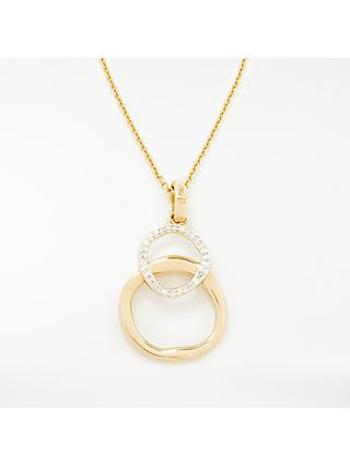 Modern Rarity Diamond Linked Hoop Pendant Necklace
