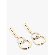 Buy Modern Rarity Diamond Linked Hoop Drop Earrings Online at johnlewis.com