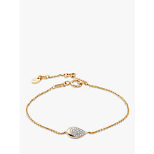 Buy Modern Rarity Diamond Teardrop Chain Bracelet Online at johnlewis.com