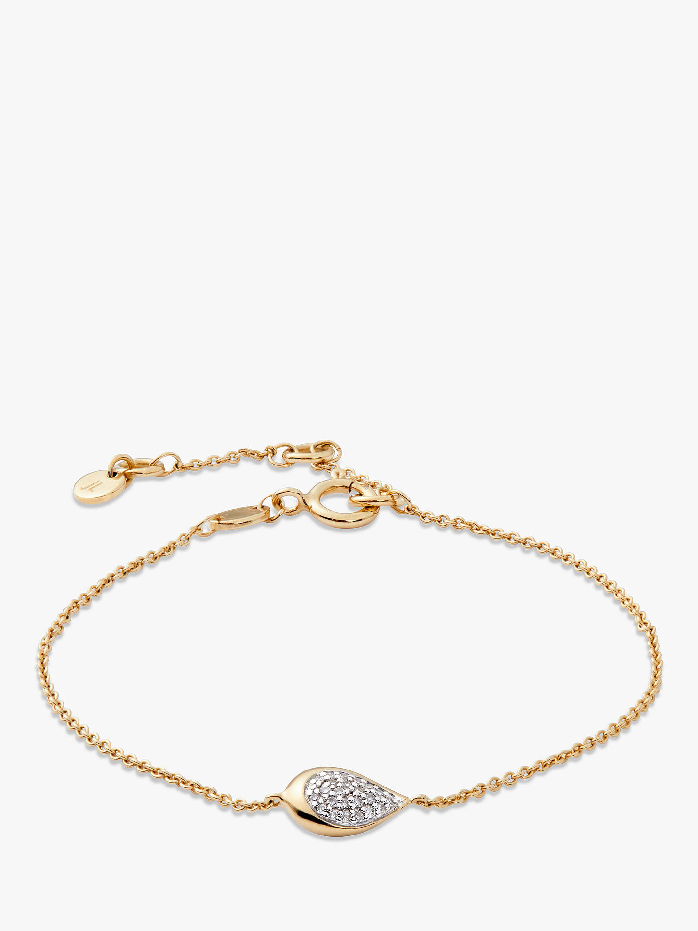Buy Modern Rarity Diamond Teardrop Chain Bracelet, Gold Online at johnlewis.com
