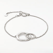 Buy Modern Rarity Diamond Linked Hoop Chain Bracelet Online at johnlewis.com
