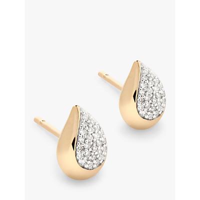 Modern Rarity Diamond Teardrop Stud Earrings