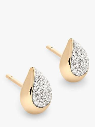 Modern Rarity Diamond Teardrop Stud Earrings