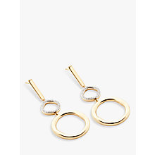 Buy Modern Rarity Diamond Large Link Hoop Drop Earrings Online at johnlewis.com