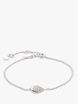 Modern Rarity Diamond Teardrop Chain Bracelet