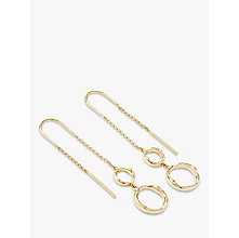 Buy Modern Rarity Hoop Threader Drop Earrings, Gold Online at johnlewis.com