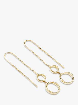 Modern Rarity Hoop Threader Drop Earrings, Gold