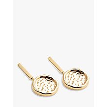 Buy Modern Rarity Hammered Disc Drop Earrings Online at johnlewis.com