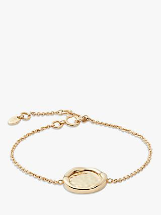 Modern Rarity Hammered Disc Chain Bracelet, Gold