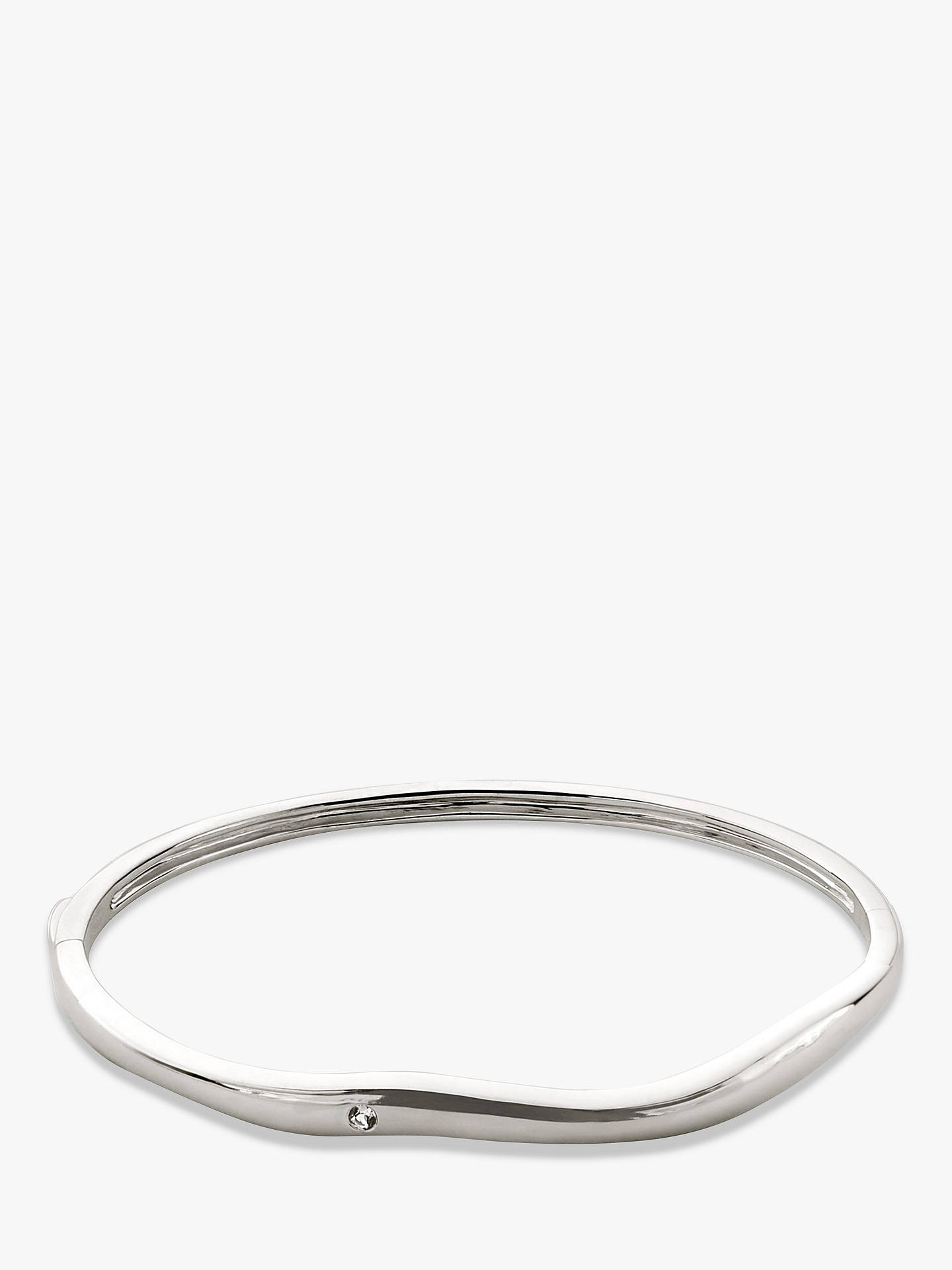 BuyModern Rarity White Topaz Wave Bangle, Silver Online at johnlewis.com