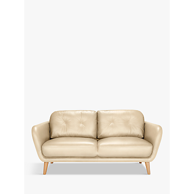 House by John Lewis Arlo Leather Medium 2 Seater Sofa, Dark Leg