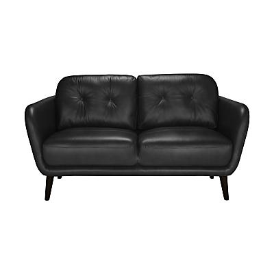 House by John Lewis Arlo Leather Small 2 Seater Sofa, Dark Leg