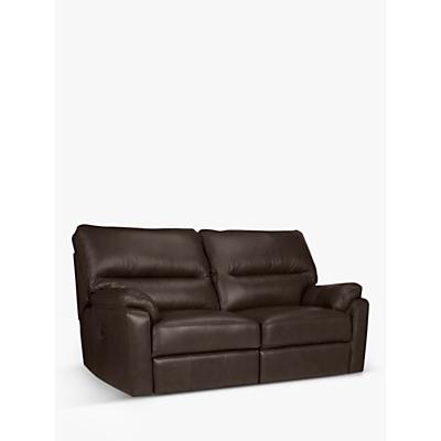 John Lewis & Partners Carlisle Manual Recliner Medium 2 Seater Leather Sofa