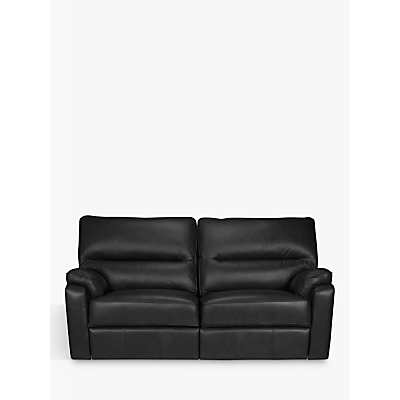 John Lewis Carlisle Manual Recliner Medium 2 Seater Leather Sofa