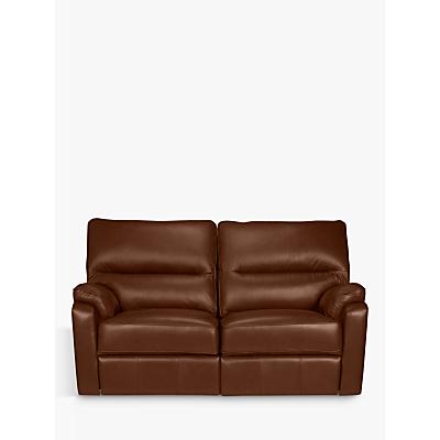 John Lewis & Partners Carlisle Small 2 Seater Power Recliner Leather Sofa