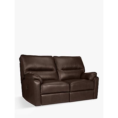 John Lewis & Partners Carlisle Manual Recliner Small 2 Seater Leather Sofa