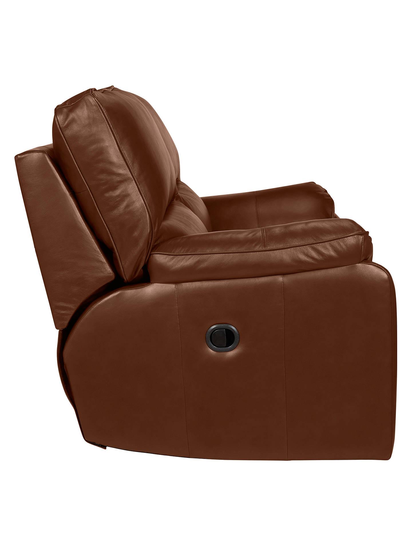 Sensational John Lewis Partners Carlisle Manual Recliner Small 2 Seater Leather Sofa Contempo Castanga Bralicious Painted Fabric Chair Ideas Braliciousco